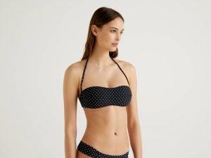bikini a fascia benetton micro pois