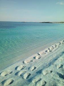 Spiaggia di Is Aruttas, i benefici del mare