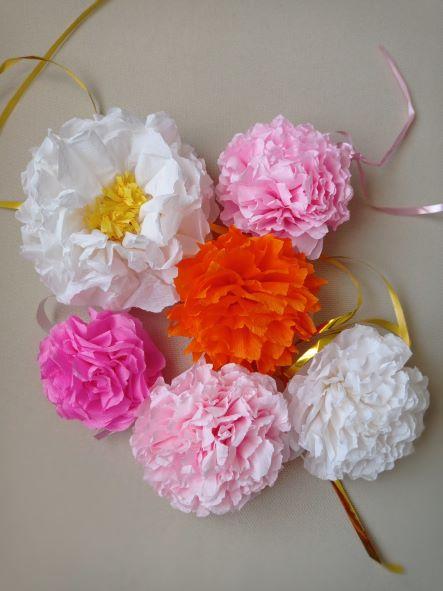 fiori di carta crespa realizzazione