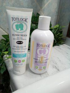 Totlogic wash e shampoo 2 in 1 e crema solare